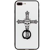 Для Кольца-держатели С узором Кейс для Задняя крышка Кейс для Череп Твердый PC для Apple iPhone 7 Plus iPhone 7