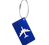 1pc Luggage Tag Waterproof Portable Mini Size for Aluminium Alloy-White Black Dark Blue tea brown Wine