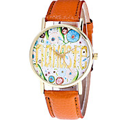 Women's Fashion Watch Wristwatch Business Classic Quartz Multi-colored Pattern Dial Top Brand Leather Band Cool Casual Unqiue Watches Relogio Feminino