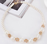 MPL European and American fashion diamond pearl necklace