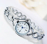 Women's Skeleton Watch Fashion Watch Water Resistant / Water Proof Japanese Quartz Alloy Band Cool Casual Silver