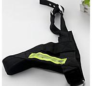 Dog Leash Adjustable/Retractable Solid Black Nylon