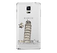 Para Transparente Diseños Funda Cubierta Trasera Funda Ciudad Suave TPU para Samsung Note 5 Note 4 Note 3 Note 2
