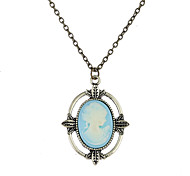 Lureme Vampire Diaries Katherine's Cameo Pendant Necklace Costume Accessory