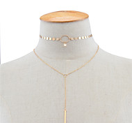Women's Pendant Necklaces Jewelry Copper Jewelry Dangling Style Pendant Tassel Tassels Euramerican Handmade Fashion Personalized Jewelry