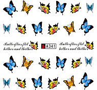 10pcs/set Fashion Nail Art Water Transfer Decals Beautiful Butterfly Nail Sticker For Polish DIY Beauty A341