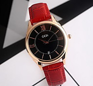 Women's Fashion Watch Water Resistant / Water Proof Japanese Quartz Genuine Leather Band Cool Casual Black Red Brown