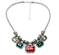 Women's Strands Necklaces Chrome Unique Design Euramerican Fashion Dark Green Red White Jewelry For Wedding Congratulations 1pc