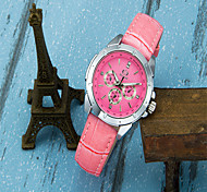 Women's Fashion Watch Quartz Leather Band Casual Black White Pink
