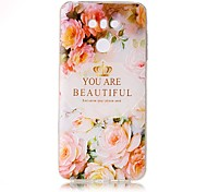 For LG G6 Case Cover Flower Letters Pattern Painted Relief High Penetration TPU Material Phone Case