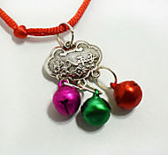 Мода домашнее животное долговечность замок кулон ожерелье маленькие собаки кошки колокол воротник украшения украшения рождественские