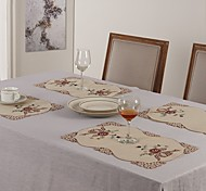 Rectangular Embroidered Placemat Embroidery Doily Cotton Placemat Cup mat 28x42cm