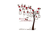 3D Red Flower Photo Frame Wall Stickers PVC Large Tree Wall Decals Home Decoration for Family 120*135cm