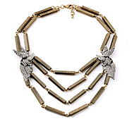 Women's Layered Necklaces Geometric Chrome Unique Design Personalized Gold Jewelry For Gift Outdoor 1pc