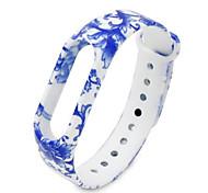 Cinturino in silicone per xiaomi miband 2 - azzurro blu e porcellana blu