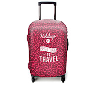 Luggage Cover for Luggage Accessory Polyester-Violet Pink