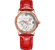 Women's Fashion Watch Swiss Quartz Leather Band Casual White Red Pink Red Purple White