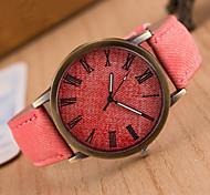 Жен. Модные часы Кварцевый Кожа Группа Винтаж минималист Черный Белый Синий Красный Коричневый Зеленый Серый Желтый Роуз