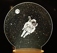 1pc lampe créative lune lampe de nuit galaxy