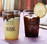 2Pcs Glass Coffee CupMilk cup 400ML
