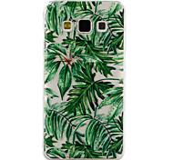 Для samsung galaxy a3 a5 (2017) крышка случая зеленый лист образец падение клей лак высокое качество тпу материал phone case a3 a5