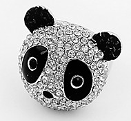 Han Edition Of Fashion And Lovely Bright Drill The Panda Ring