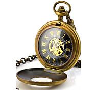 Herren Taschenuhr Mechanische Uhr Quartz Mechanischer Handaufzug Legierung Band Bronze