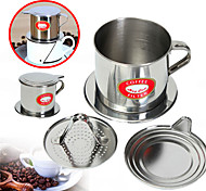 100 мл Нержавеющая сталь Фильтр для кофе , Сварить кофе производитель Многоразового использования с подставкой Cup Инструкция