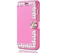 Étui en cuir de luxe pour iphone 7 plus 7 flip cover glitter shells en diamant brillant pour iphone 6 plus 6s