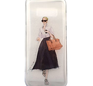For Samsung Galaxy S8 S8 Plus Case Cover Girl Pattern High Transparent TPU Material IMD Craft Mobile Phone Case
