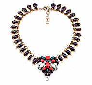 Women's Strands Necklaces Flower Chrome Unique Design Personalized Purple Jewelry For Gift Outdoor 1pc