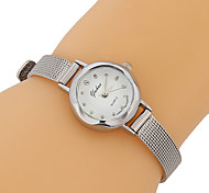 Men's Dress Watch Chinese Quartz Stainless Steel Band Casual Silver Gold Gloden Silver