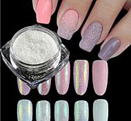 1 бутылка новой моды сладкий стиль конфеты цветов ногтей искусство DIY блеск сахар покрытие порошок голографический пигмент маникюр