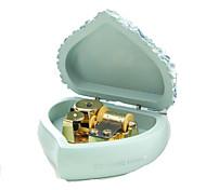 Music Box Heart-Shaped Novelty & Gag Toys Resin Kid's Female