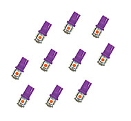 10Pcs T10 5*5050 SMD LED Car Light Bulb Purple Light DC12V