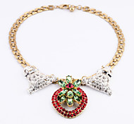 Women's Strands Necklaces Flower Chrome Unique Design Personalized Red Jewelry For Gift Outdoor 1pc