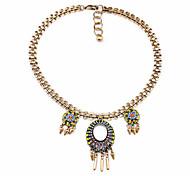 Women's Pendant Necklaces Oval Chrome Unique Design Personalized Rainbow Jewelry For Housewarming Congratulations Casual 1pc