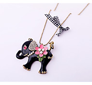 Women's Pendant Necklaces Animal Shape Chrome Unique Design Personalized Black Jewelry For Gift Outdoor 1pc