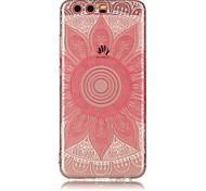 Para huawei p8 lite (2017) p10 lite tpu material imd processo rosa taro padrão telefone caso p10 p9 lite p8 lite