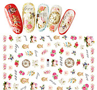 1pcs Fashion Romantic Flower Beautiful Design Nail Art 3D Stickers Colorful Flower Sweet Decoration For Nail DIY Beauty F181