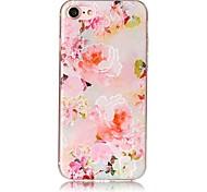 Para o iphone da maçã 7 7 mais 6s 6 mais se 5s 5 tampa do caso flor teste padrão pintado relevo penetração alta caixa do telefone material