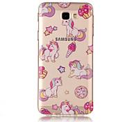 For Samsung Galaxy J7(2017) J5(2017) TPU Material IMD Process Unicorn Pattern Phone Case J3(2017) J7 Prime J3 Prime J710 J7 J510 J5 J310 J3