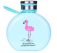 300ml Karikatur tragbare Glas Wasser Saft Flasche