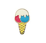 Fashion Trendy Cute  Enamel  Ice-cream  Metal Brooch