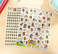 Long Hair Girl Pattern Stickers 1 Set
