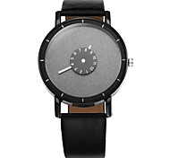 Ms. Common Male Creative Personality Double Rotating Seconds Disc Casual Leather Watch Cool Watches Unique Watches Fashion Watch