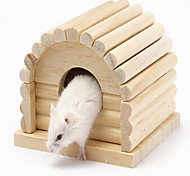 Small Pet Wooden House  Wood Color