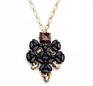 Women's Pendant Necklaces Flower Chrome Unique Design Personalized Black Jewelry For Housewarming Congratulations Casual 1pc