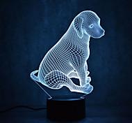 Рождественская собака черепах сенсорный затемнения 3d привело ночник 7colorful украшения атмосферы лампа новинка освещение рождественский