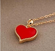 Yung People Love Heart Cut Pendant Sweater Chain Necklace Adjustable Dangling Gifts for Lovers Girlfriend